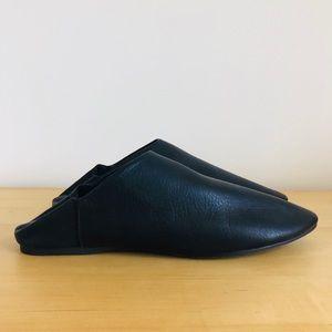 STIU Black Leather Vagabond Babouche Mule Slides 8